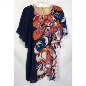 Maeve Painted Floral Silk Shift Dress